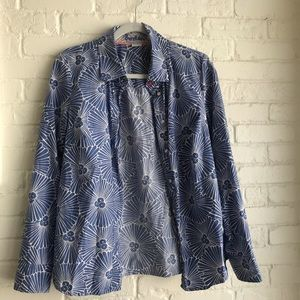 Boden like new long sleeve button down blouse 10